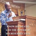 Know His death and the power of His resurrection